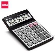 Deli 1 шт женский калькулятор с живым голосом большой экран
