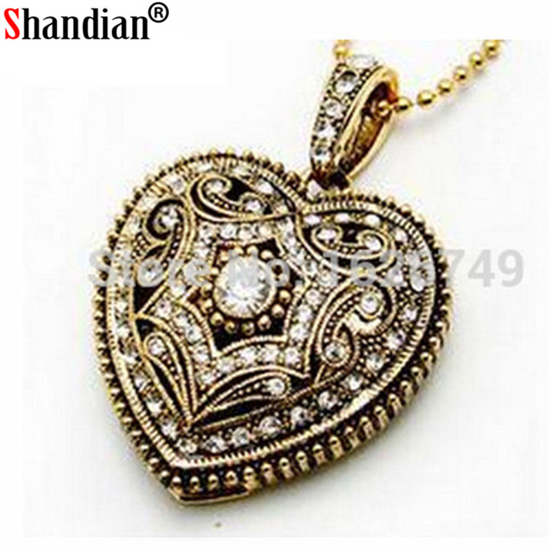SHANDIAN Jewelry Heart USB Flash Drive Crystal Heart Disk Necklace Pendrive 4GB 16GB 32GB 64GB Memory Stick U Disk Free Shipping