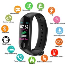 цена Sport Smart Band Bracelet M3 Blood Pressure Monitor Waterproof Smart Wristbands Smartband fitness Tracker watch PK mi band 3 4 онлайн в 2017 году