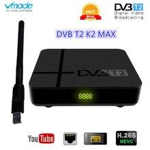 Decodificador Digital DVB T2, receptor terrestre HD 1080P, sintonizador de televisión DVB T2, H.265, compatible con wifi usb, DVB T2