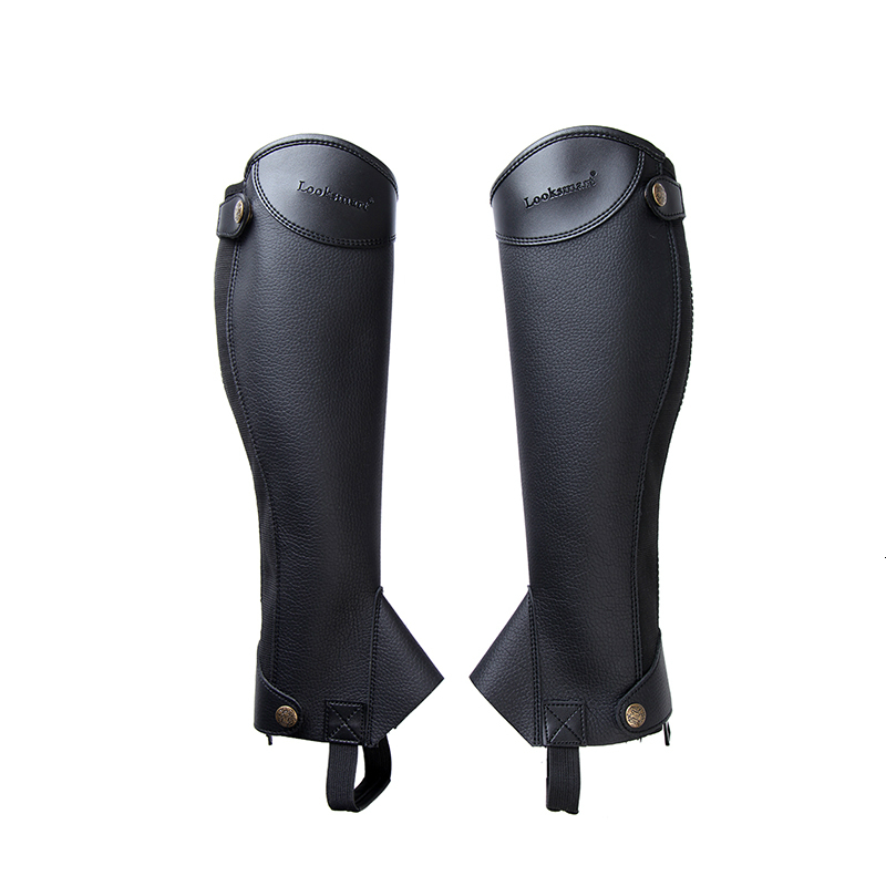 Equestrian Leggings Microfiber PU Horse Riding Boots Cover Adults Children Leg-protector Paarden Equitation Equipement Cheval 1