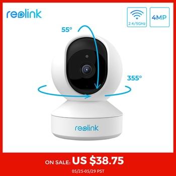 Reolink 4MP casa cámara ip de seguridad 2,4G/5G WiFi Pan & Tilt escuchar y hablar con ranura para tarjeta SD de la cámara de vigilancia E1 Pro