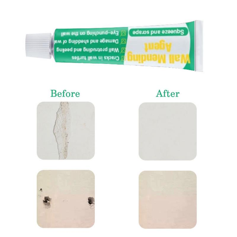 Wall Mending Agent Wall Repair Cream Latex Paint Waterproof Gypsum Wall Paint Valid Mouldproof Wall Crack Nail Repair Household