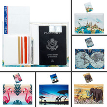 Embroidery Cross Stitch Book Cover World Map Color Unisex Traveling Blocking Card Holder  Passport Cover Animal Passport Book