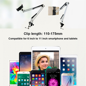 Image 2 - Держатель планшета, длинный кронштейн для Ipad 2 3 4 Air Mini Phone, подставка для планшета, 110 175 мм, ширина устройства