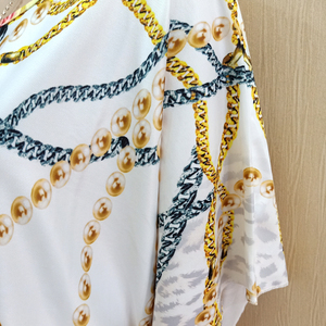 Image 4 - 2019 New Arrivals African Dashiki Flowers Pattern Print Dress Short Sleeve Casual African Dresses For Women