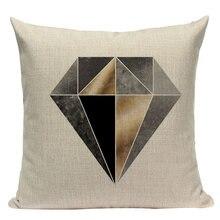 Декоративная подушка с геометрическим рисунком 45*45