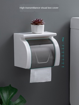 Toilet Tissue Box Bathroom Wall Mounted Tissue Holder Waterproof Roll Paper Box Non Perforated Toilet Paper Roll Holder недорого