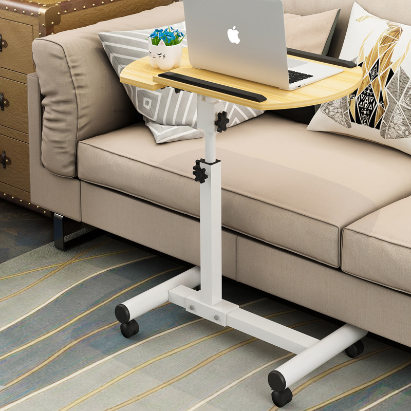 Foldable Laptop Stand with Rotating Wheels and Side Space for Keyboard and Mouse 1