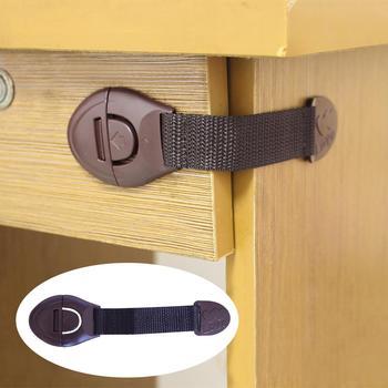 Plastikowa ochrona dziecka przed dziećmi w szafkach pudełka blokada drzwi szufladowe Terminator Security Product tanie i dobre opinie Drewna Blokada szuflady 19-24 M 13-18 M 0-3 M 4-6 M 7-9 M 10-12 M 62358