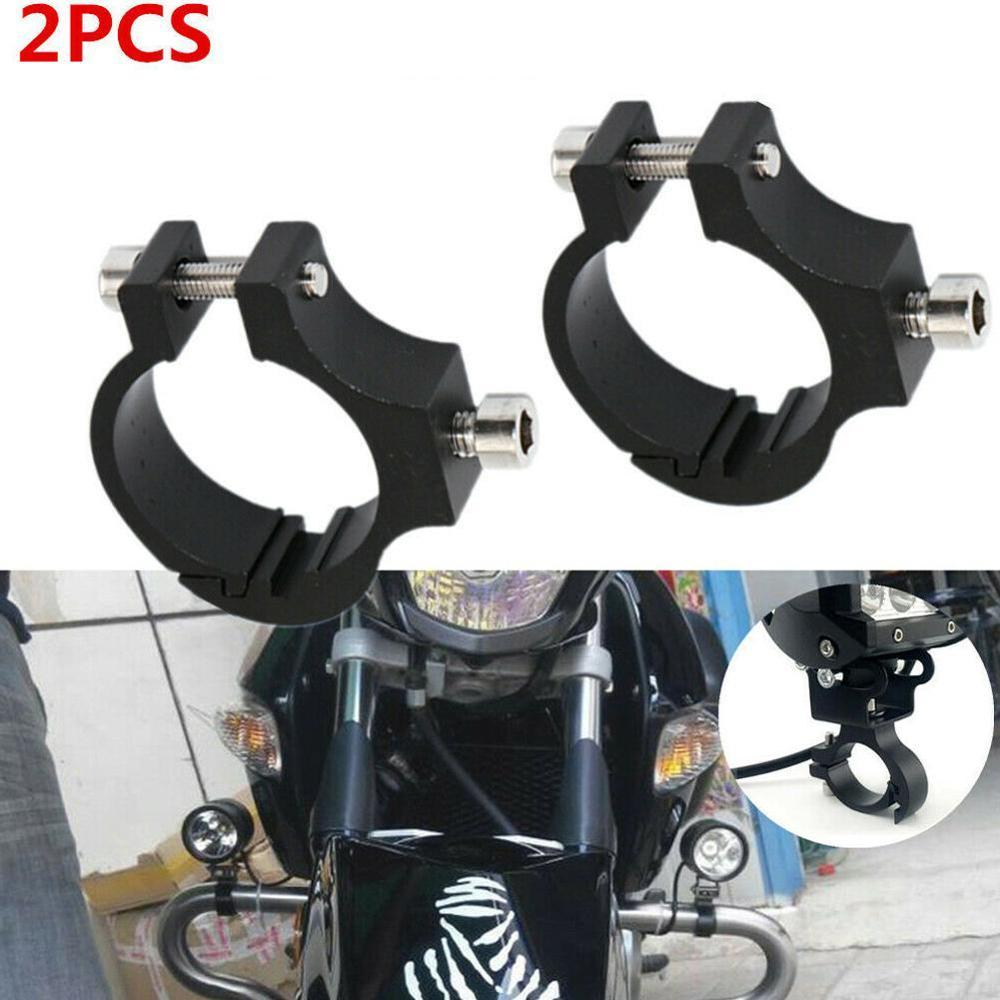 2xUniversal motorcycle Headlight Bracket Tube Fork Spotlight Holder Clamp mounting handlebar clamp kit for For Honda