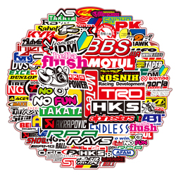 50PCS/Pack JDM Racing Car Modification Graffiti Waterproof Stickers For Motorcycle Helmet Laptop Luggage Decals Sticker