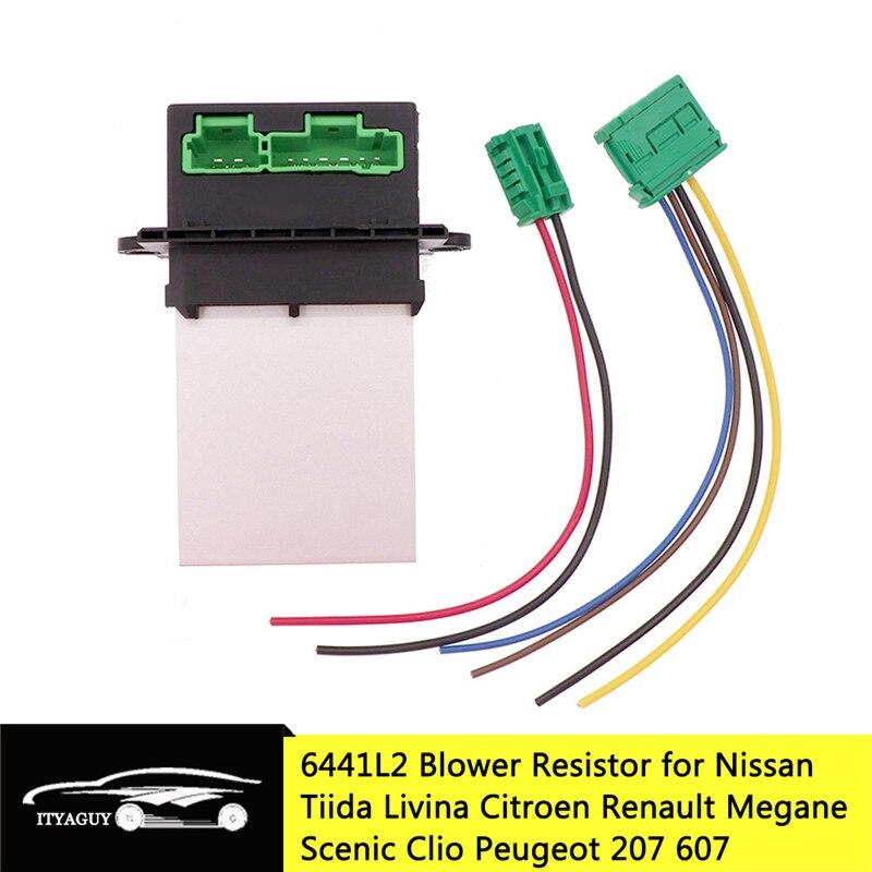 Воздушный резистор 6441L2 для Nissan Tiida Livina Citroen Renault Megane Scenic Clio, для PEUGEOT 207 607 6441.L2