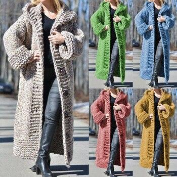 2020 Long Cardigan Women Autumn Winter Bat Sleeve Knitted Sweater Plus Size Loose Ladies Sweaters Coat 5XL long cardigan women sweater autumn winter bat sleeve knitted sweater plus size jacket loose ladies sweaters coat plus size