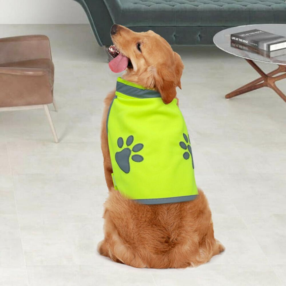New <font><b>Pets</b></font> <font><b>Dog</b></font> Reflective High Visibility <font><b>Dog</b></font> Jacket Clothes Hi Vis Viz Night Safety <font><b>Pet</b></font> Vest <font><b>Dogs</b></font> <font><b>Pets</b></font> <font><b>Clothing</b></font> image