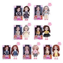 Boneca princesa bjd móvel 16cm 13, juntas, bonecas princesa, lols, brinquedos com roupas de princesa, olhos 3d, corpo nude, bonecas para crianças meninas