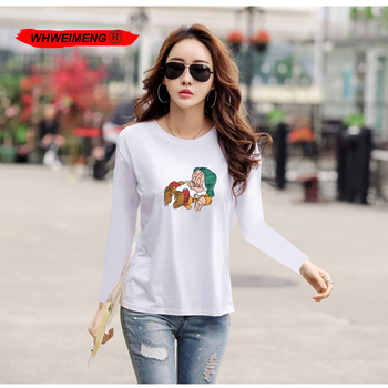 WHWEIMENG lato Pokemon tshirt kobiety 2020 Casual Harajuku drukowane topy damska T koszula z długim rękawem T koszula kobiety ropa mujer