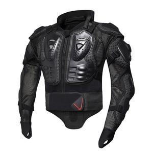 Image 3 - HEROBIKER motosiklet ceketler motosiklet zırhı yarış vücut koruyucu ceket motokros motosiklet koruyucu donanım + boyun koruyucu