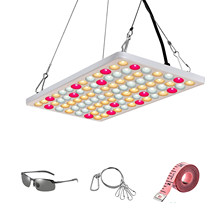 600W LED Grow Light Full Spectrum Samsung LM281b+ Diodes Plant Light 2.5umol 2x2FT Coverage for Seedling, Veg and Blooming