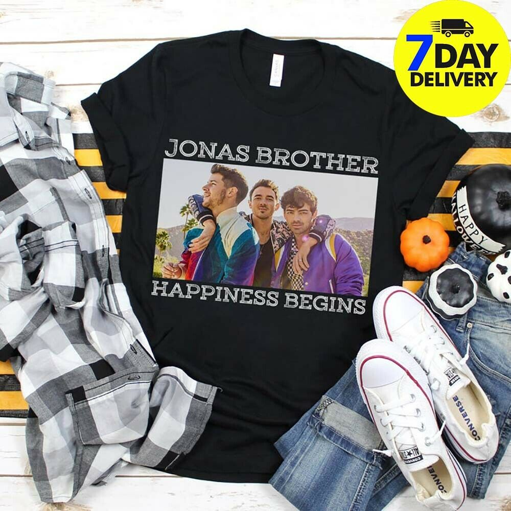 Vintage Gift Jonas Brother Happiness Begins Lover Begin Tour Fan T-Shirt