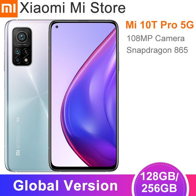 "Xiaomi Mi 10T Pro versión Global, 8GB de RAM, 128 GB/256GB de ROM, Snapdragon 865, ocho núcleos, 144Hz, cámara de 108MP, pantalla táctil de 6,67""|Teléfonos móviles| - AliExpress"