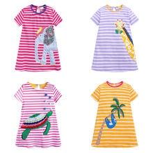 Vestidos infantiles para niñas, ropa de algodón de manga corta, vestido de princesa informal de verano, ropa para niños, vestidos para bebés