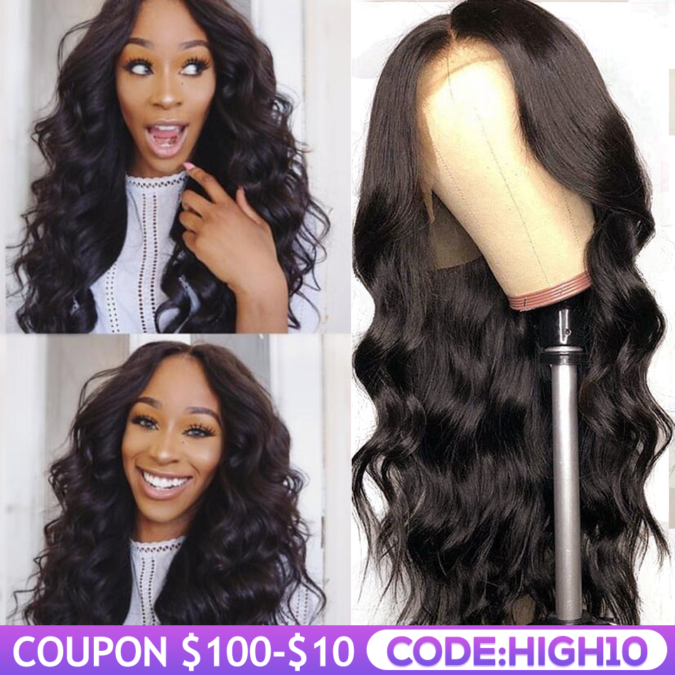 Unice Hair 13*4/6 Lace Front Human Hair Wig Pre Plucked With Baby Hair Brazilian Remy Body Wave Wig Deep Part 360 Lace Front Wig