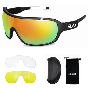 Image 5 - ELAX Brand 2019 New 3 Lenses Sport Cycling Glasses Men Women Outdoor Cycling Sunglasses Mtb Bike Bicycle Eyewear UV400 Goggles