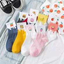 South Korea's lovely spring and summer fruit chips youth beautiful girl socks cartoon socks