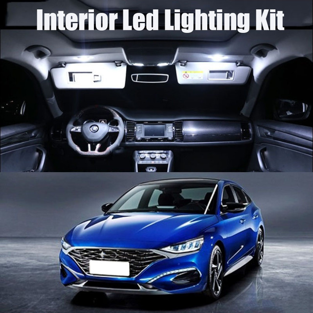 9 Bulbs White Canbus Interior LED Car Light Kit Fit For Chrysler 200 2011 2012 2013 2014 Map Dome Cargo License Lamp No Error 3