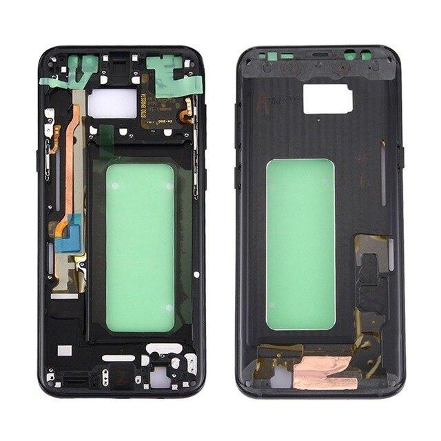 삼성 갤럭시 s8 g950 g950f g950fd g950t g950v 기존 전화 하우징 섀시 lcd 플레이트 새로운 중간 프레임 접착제