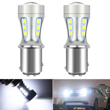 2Pcs Canbus Auto Reverse Lights 1157 Bay15d P21 5W 1156 BA15S 7443 T20 T15 W16W LED Bulb for Ford Fiesta Fusion Focus Mazda 3 5