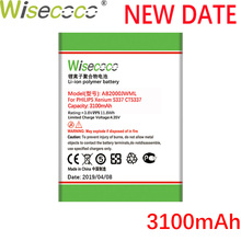 Wisecoco AB2000JWML 3100mAh New Produciton Battery For Philips Xenium S337 CTS337 Phone high quality Replacement+Tracking Number s337