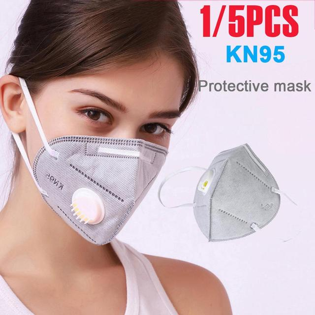 KN95 Prevent Flu Face Mask N95 Respirator Dust Mouth Masks Formalde Hyde Bacteria Proof Safety As KF94 ffp2 Fast Delivery