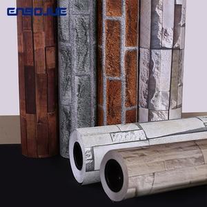 Image 1 - Самоклеящиеся обои в стиле ретро с имитацией кирпича, водонепроницаемая Наклейка на стену для гостиной, кухни, ресторана, настенная 3D Бумага