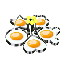 5pcs/set Stainless Steel Cute Shaped Fried Egg Mold Pancake Rings Kitchen Tool kichen accessories