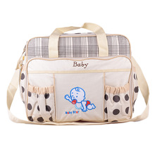 Fashion Baby Mummy Bag Multi-Function Large Capacity Waterproof Antibacterial Messenger Wholesale