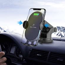 2 Styles 10W Qi Wireless Charger for Iphone Samsung Car Air