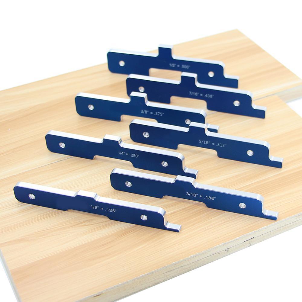 7PCS Woodworking Precision Router Table Setup Bars Aluminum Alloy Depth Test Distance Set Up Bars