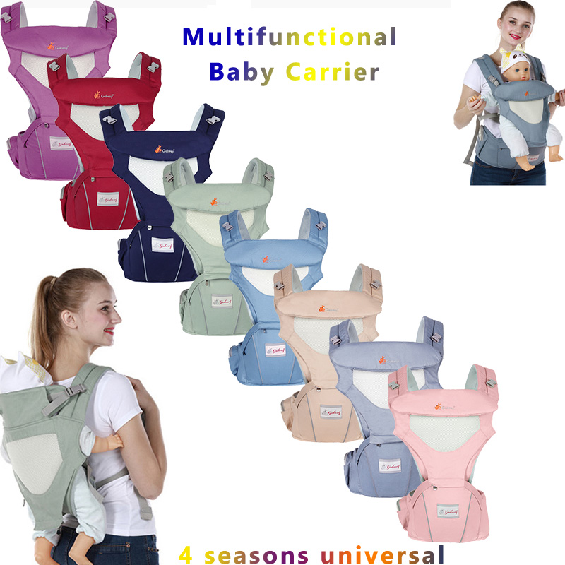 Hot Baby Carrier Ergonomic Infant Baby Hipseat Carrier Front Facing Ergonomic Kangaroo Baby Wrap Sling For Baby Travel