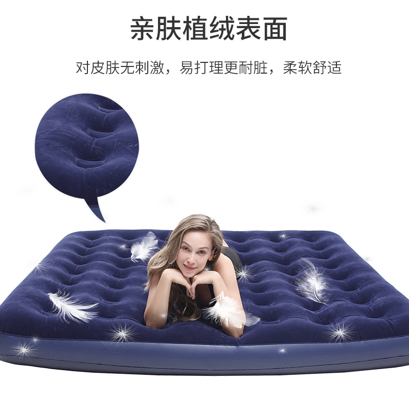 Obliging Inflatable Bed Double Air Bed Household Portable Mattress Outdoor Hiking Camping Air Mattress To Have A Unique National Style