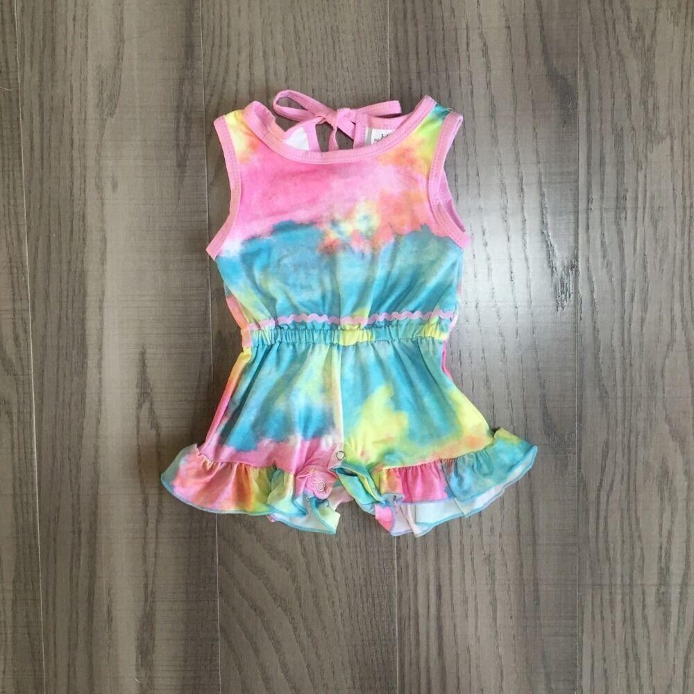 Baby Girls Clothes Girl Summer Romper Baby Kids Toddler Tie Dye Romper