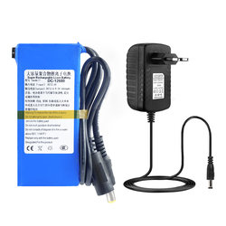 12v battery pack 6.8Ah DC-12680 Rechargeable Lithium Ion battery pack capacity DC 12.6 V 6800 Mah CCTV Cam Monitor +2A Charger