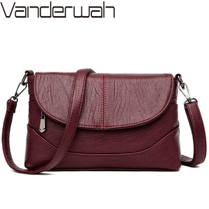Image 1 - Luxury Handbags Leather Crossbody Bags For Women Shoulder Messenger Bags Designer Purses and Handbags Sac A Main High Quality