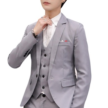 Oeak Men Blazers 2020 Slim Fit Social Spring Autumn Solid Wedding Dress Suit Coat Casual Plus Size Business Suit Jacket For Men