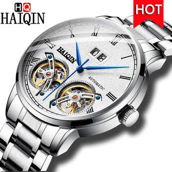 HAIQIN Men's Watches Automatic/Mechanical/Waterproof/Sports/Gold/Military/Watch Men Top Brand Luxury Business Relogio Masculino - DISCOUNT ITEM  49% OFF All Category