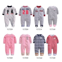 Baby Rompers Winter Warm Fleece Clothing Set for Boys Cartoo