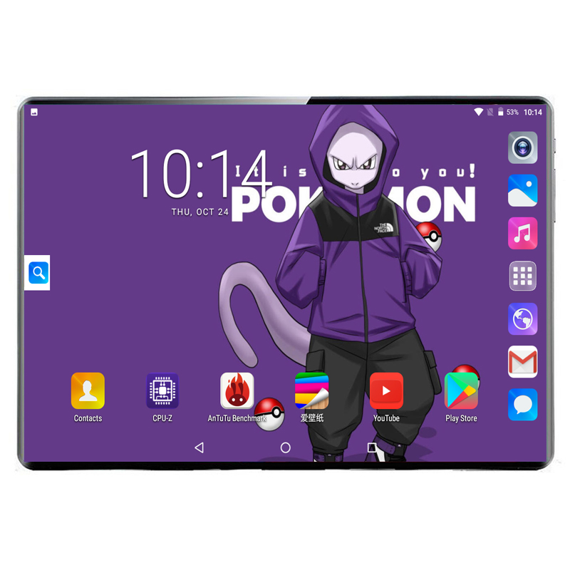8GB+128GB Android 9.0 MTK 6797 10 Core 10 Inch Tablet PC Dual Cameras 8MP Dual SIM Phone Tablets 1920x1200 IPS GPS WIFI
