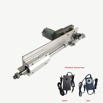 DC 24V Reciprocating Linear DC Motor Stroke 80mm With Speed Control Power Supply Telescopic Linear Actuator dc24v 50mm multi function linear actuator motor stroke heavy duty best no load speed