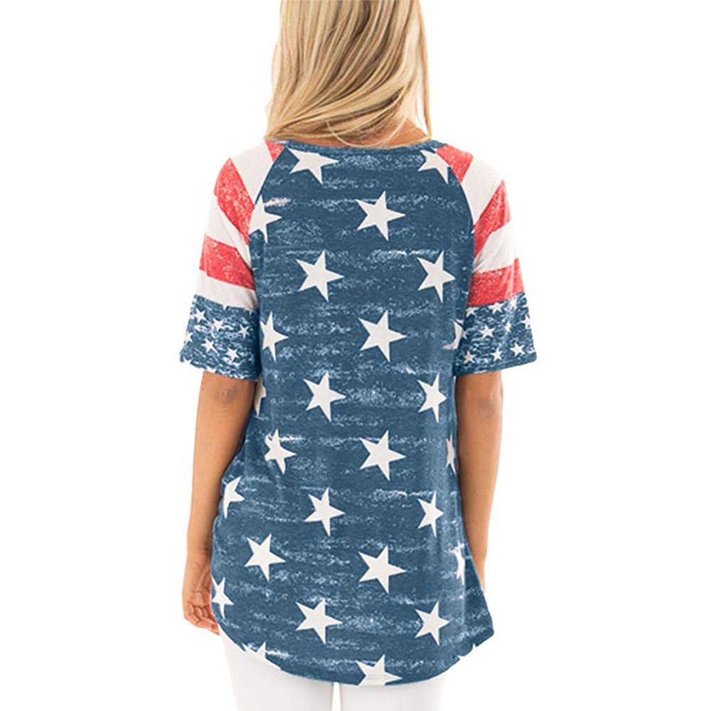 유행 재미 있은 여자 정상 티 여성 짧은 소매 여름 미국 별 느슨한 야구 90s tumblr t-셔츠 한국 옷 2019 새로운